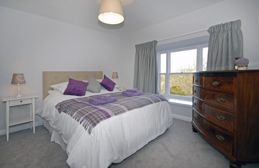King size bedroom with Cathedral views