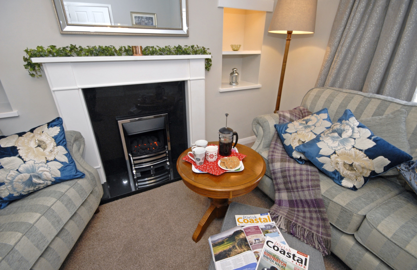 Cosy by the gas fire in Pebble House, St Davids