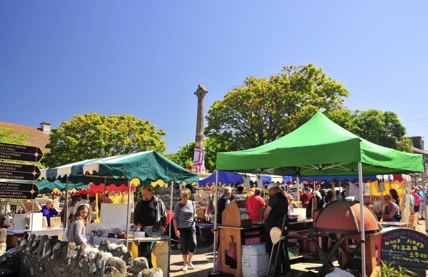 Farmers market is held in Cross Square