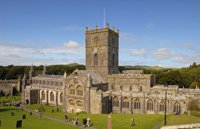 St Davids Cathedral and the Bishops' Place