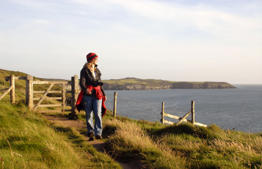 The Pembrokeshire Coast Path at St Justinian's