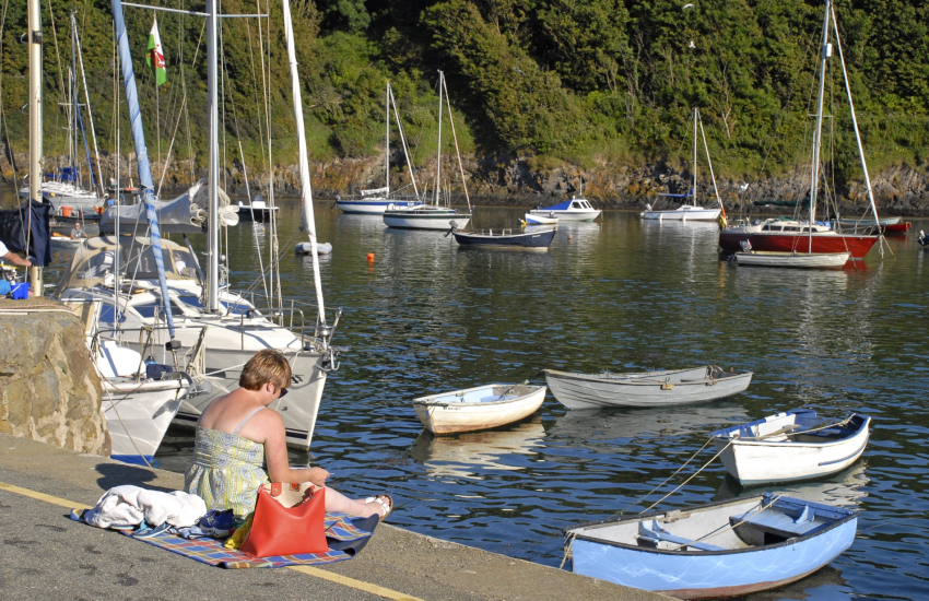 Solva village with its quaint picturesque harbour