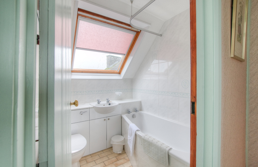 St Davids self catering apartment - bathroom