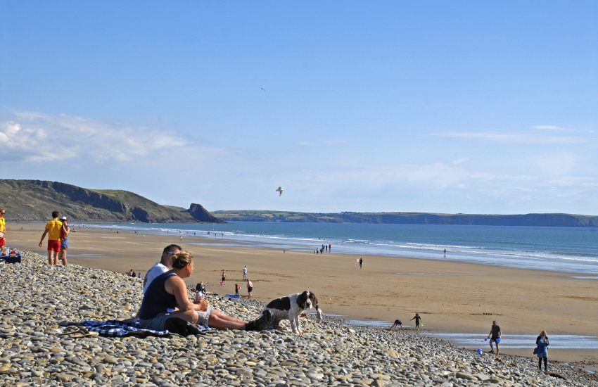 Newgale Beach (Blue Flag) with its 2 miles of golden sands