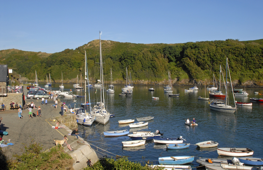 Solva village with its quaint picturesque harbour