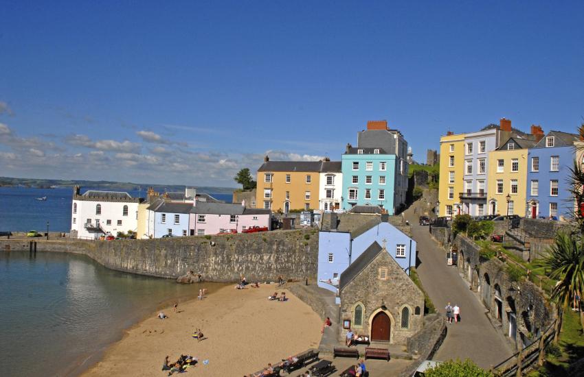 Tenby - a popular seaside town
