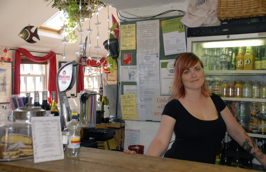 Shed Bistro in Porthgain for delicious fish & chips