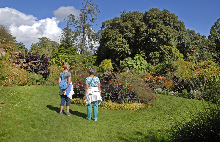 Picton Castle and relax within with 40 acres of tranquil gardens