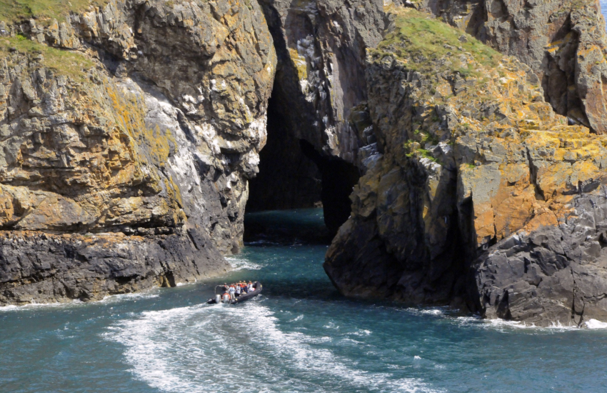 Boat trips run from St Justinian's