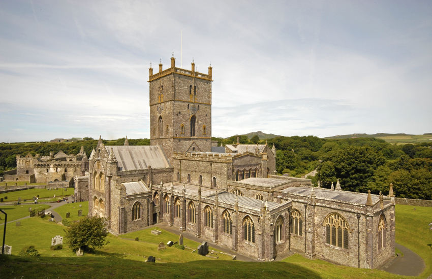 St Davids Cathedral and ruined Bishops' Palace