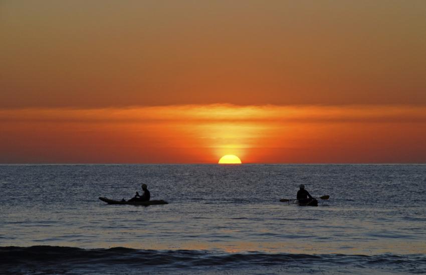 Enjoy stunning sunsets down on Whitesands Beach