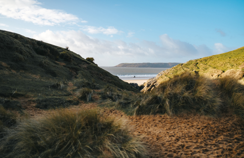Pobbles Bay on The Gower Peninsula
