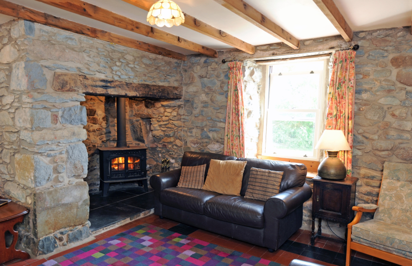 Lounge with log burner
