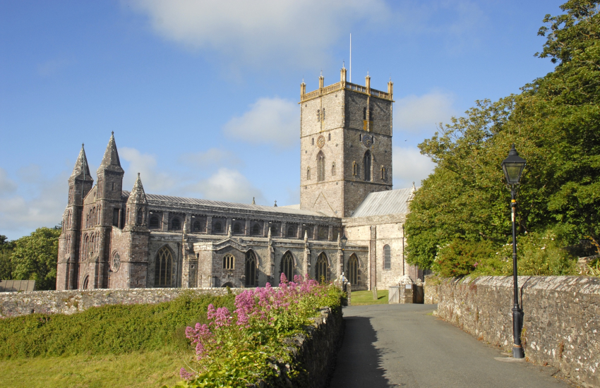 St Davids Cathedral and the ruined Bishops Palace