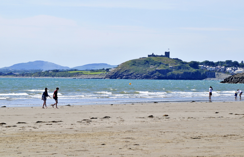 Criccieth Castle from Black Rock Sands
