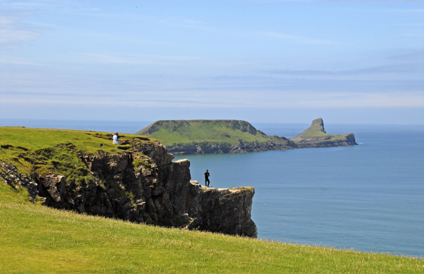 Worms Head, Rhossili is accessible only at low tide
