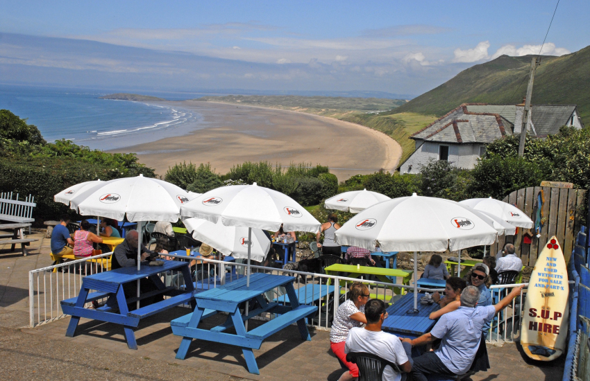 The Bay Bistro after an exhilarating day on Rhossili Beach