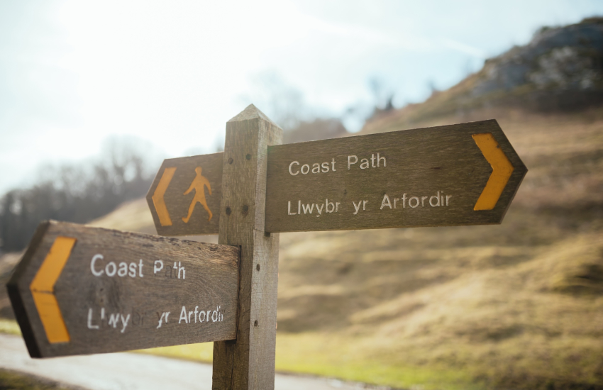 The Gower Way which stretches for miles around The Gower Peninsula