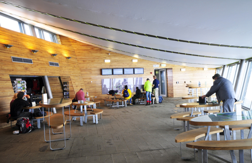 Cafe and visitors centre at the summit of Snowdon