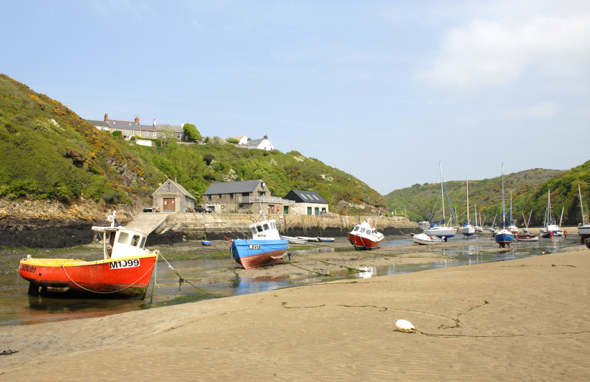 Solva River sheltered cove of Gwdan