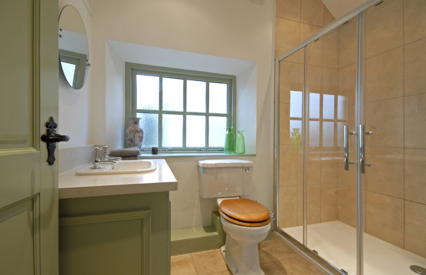 Cardigan Bay holiday home - luxury double shower room