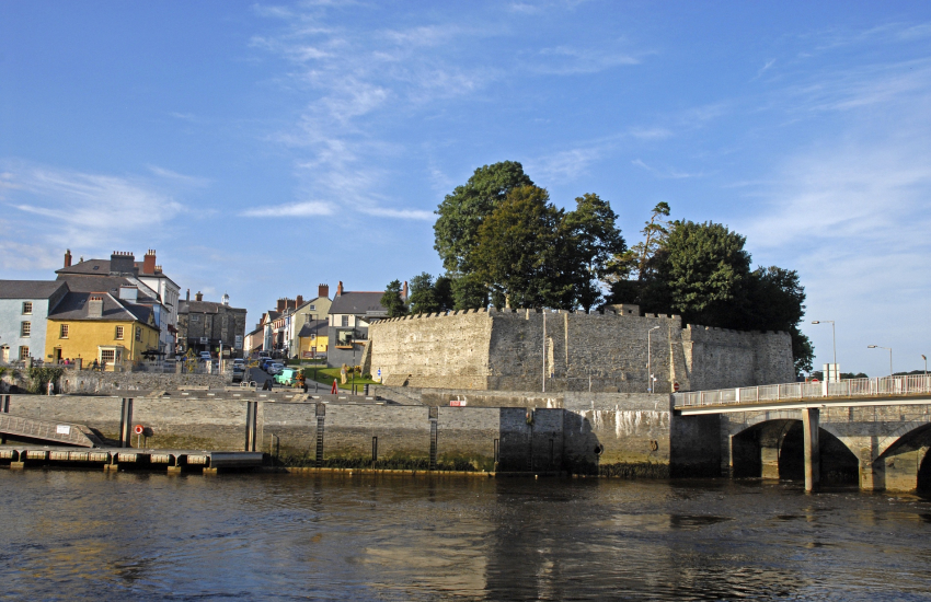 Cardigan Castle with its Georgian mansion restaurant