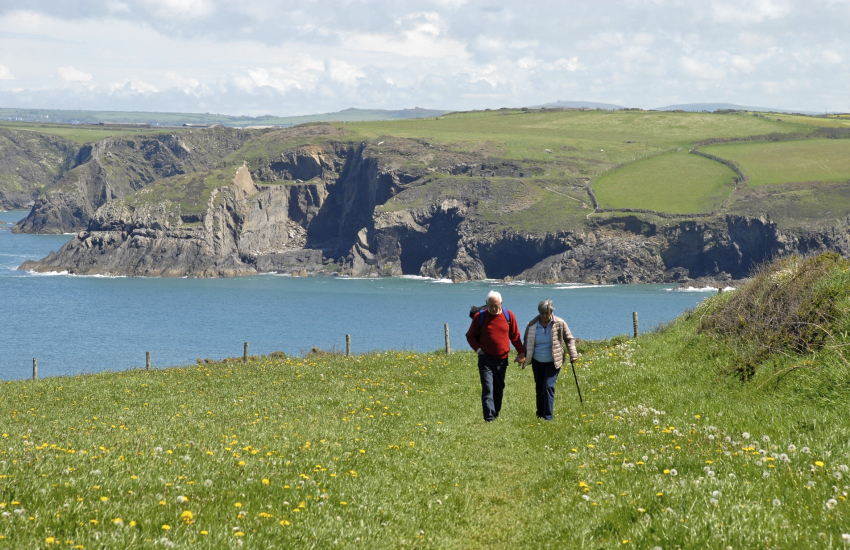 The Pembrokeshire Coast Path is fabulous for cliff-top walking