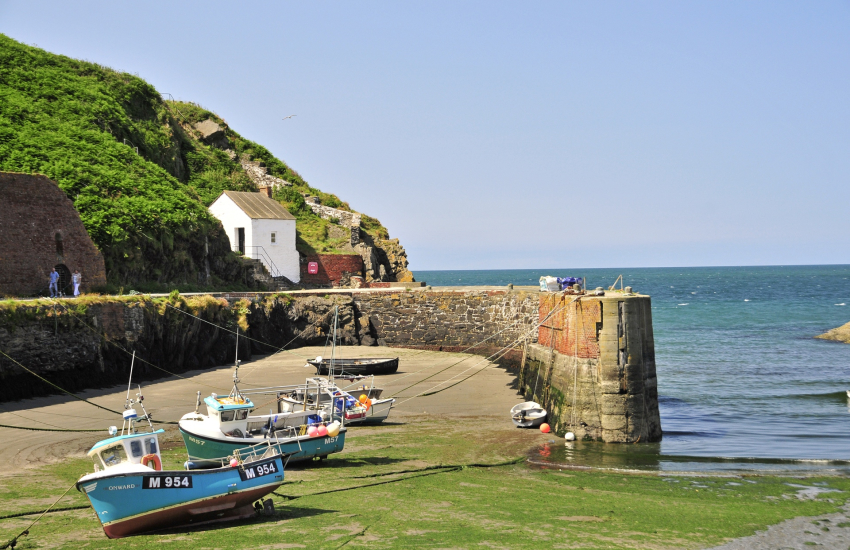 Porthgain - a popular harbour village with the Sloop Inn