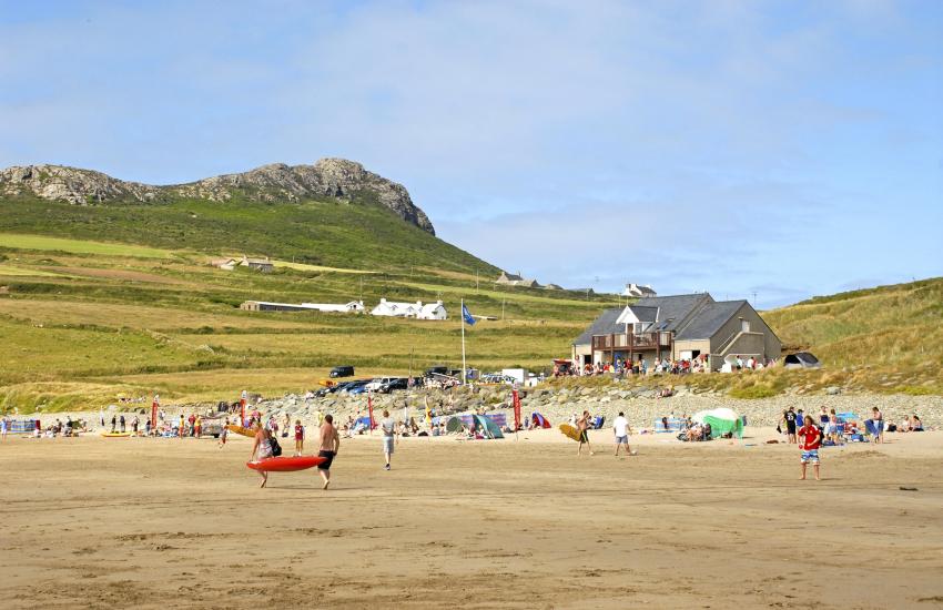 Whitesands Bay - a Blue Flag wide sandy beach