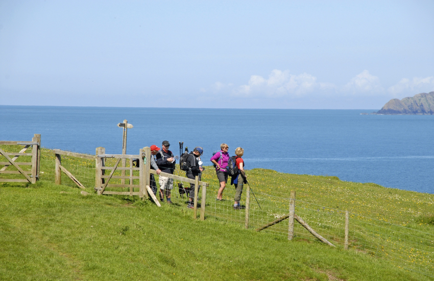 Pembrokeshire Coast Path is fabulous for cliff top walking