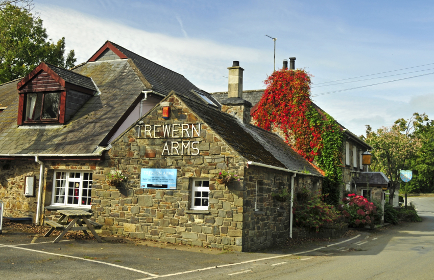 'Trewern Arms' in Nevern at the end of the day for food