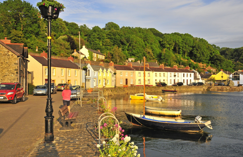 Lower Town Fishguard - great for 'crabbing' off the wall