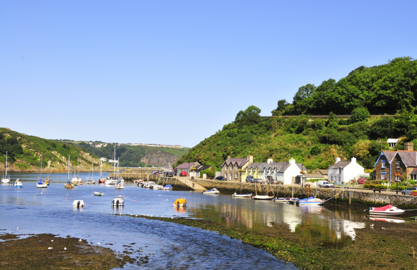 Lower Town Fishguard featured in Dylan Thomas' Under Milk Wood