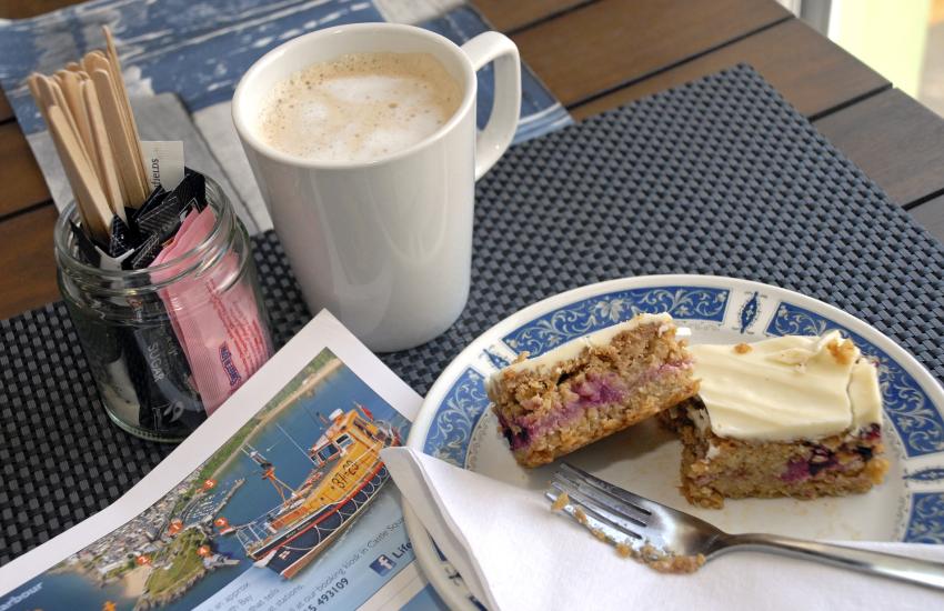 Corner House Café for a full Welsh breakfast Little Haven