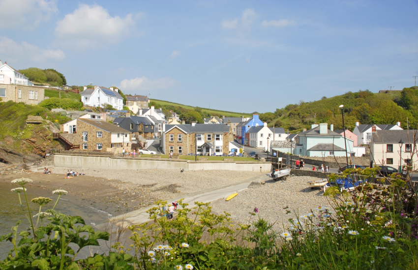 Little Haven is a picturesque fishing village