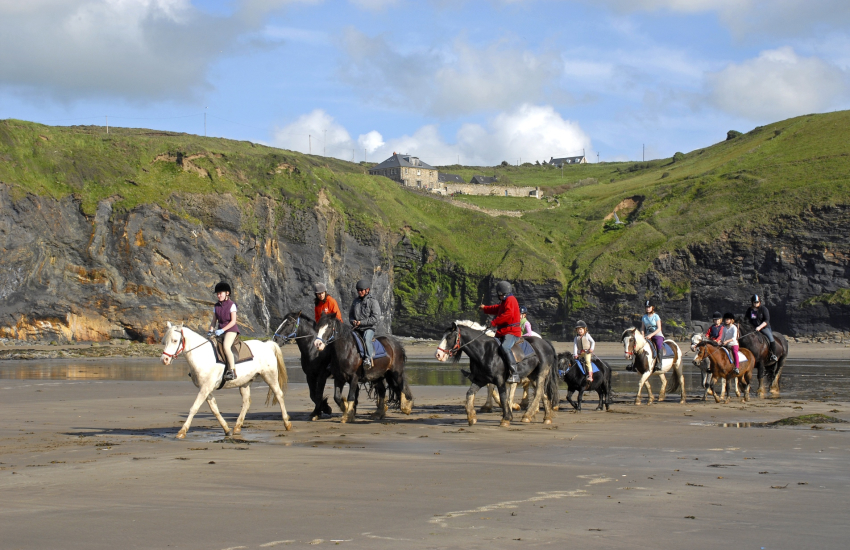 Nolton Riding Stables for a gallop on Druidstone beach