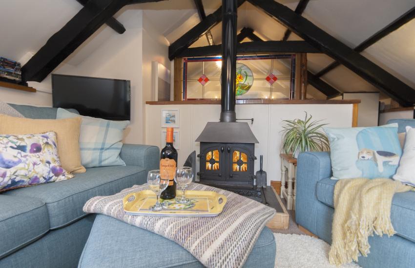 Cardigan Bay Coast - cosy cottage with log-burning stove