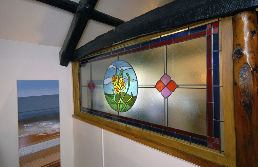Welsh Daffodil - beautiful stained glass window feature
