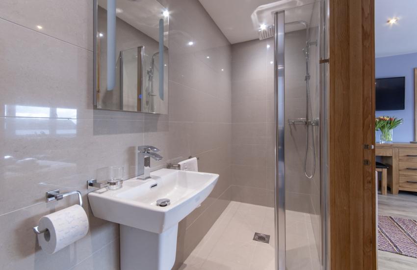 Solva holiday home - ground floor king size en-suite walk in shower