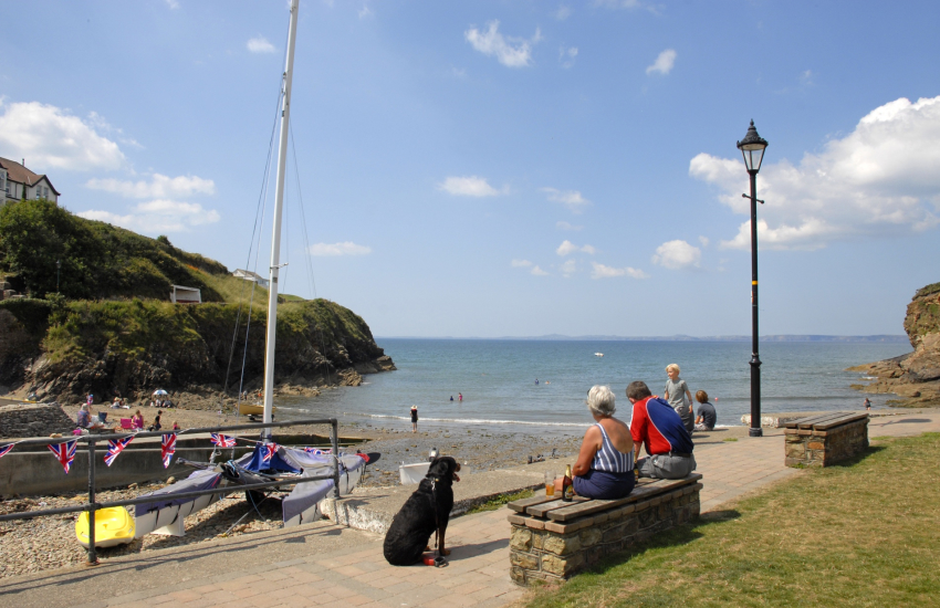 Little Haven is just one of many sheltered seaside coves