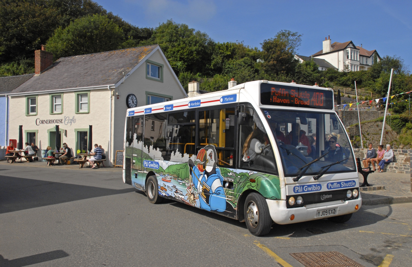 Hop aboard the Puffin Shuttle, a coastal bus service