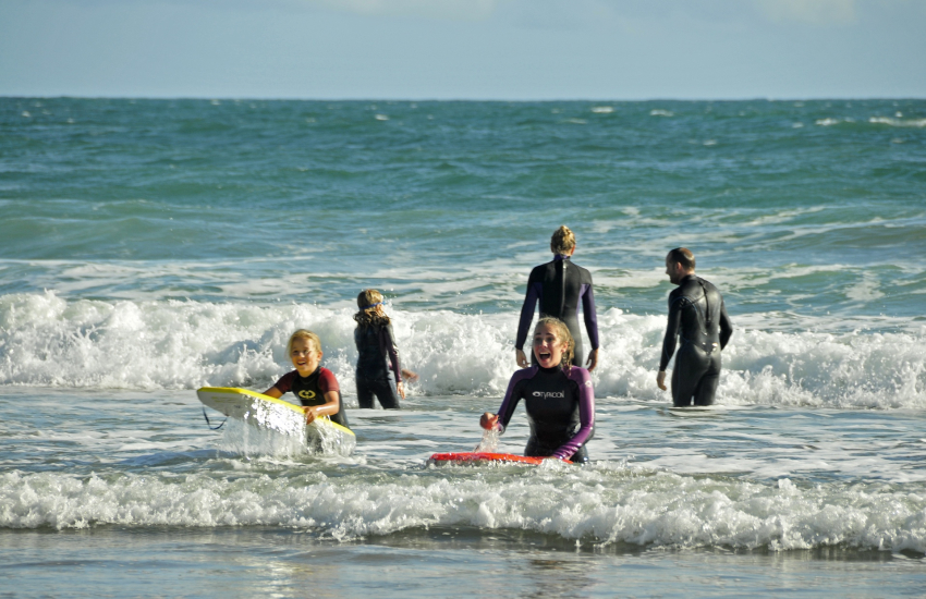 'Newsurf', Newgale and Haven Sports in Broad Haven offer wetsuits