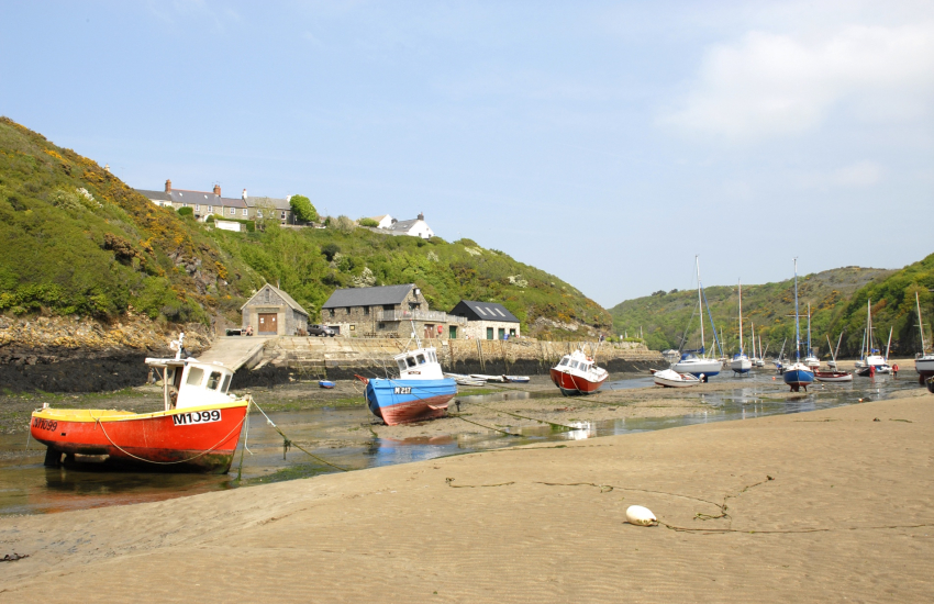 Solva harbour is home to luxury yachts and boats