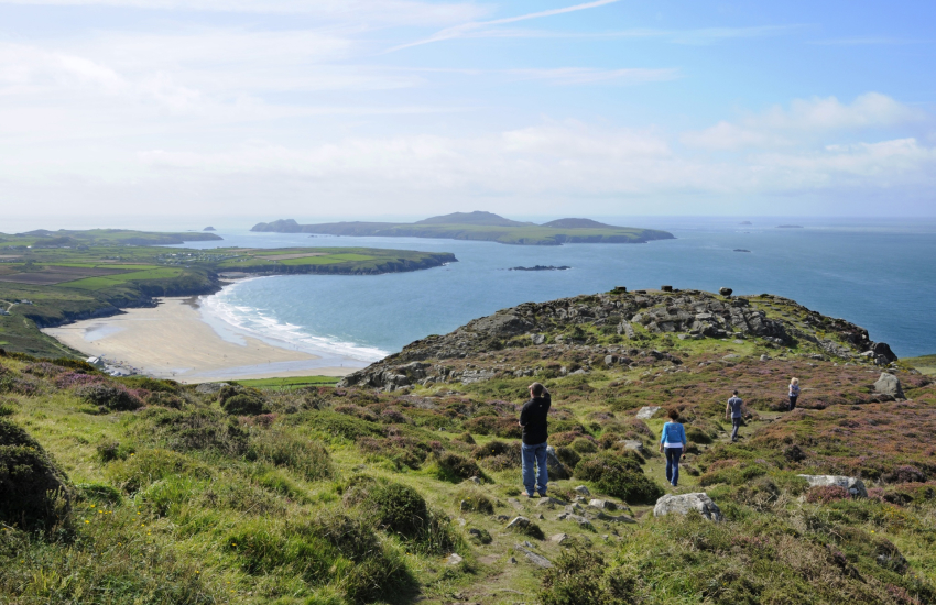 Walk up 'Carn Llidi' for the most stunning views over Whitesands Beach to Ramsey Island beyond