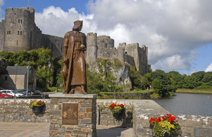 Pembroke Castle - the birthplace of Henry VII
