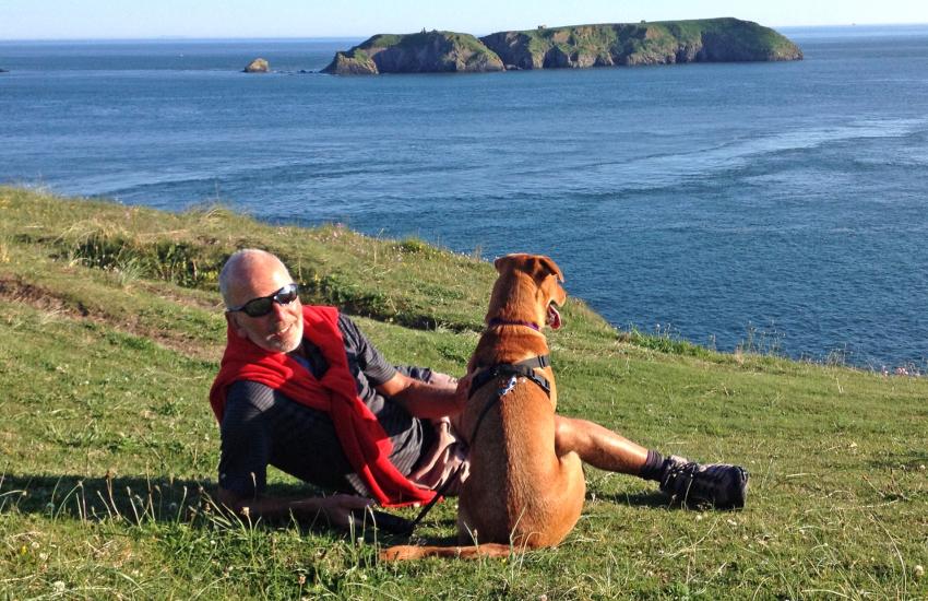Enjoying the stunning Pembrokeshire Coast Path