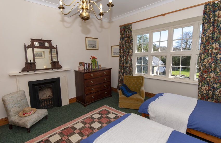 Pembrokeshire manor house - twin with views to St Brynachs church