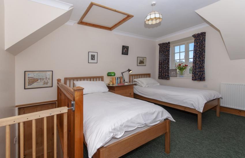 Pontfaen Manor - first floor twin with views over gardens
