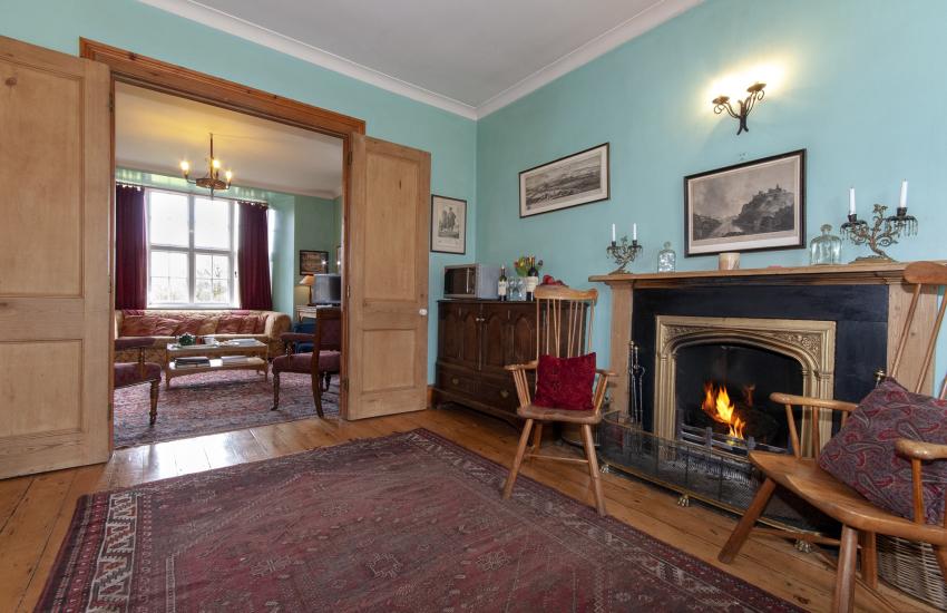 Plas Pontfaen, Gwaun Valley - kitchen/diner links to the sitting room