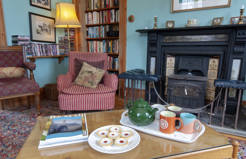 Plas Pontfaen Manor House - large, pet friendly holiday home with a charming rustic interior and wood burning stove